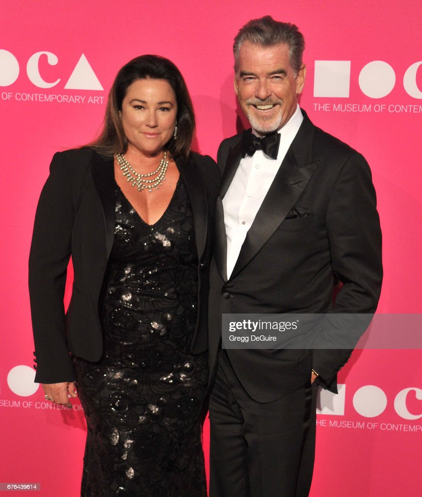 Pierce Brosnan and Keely Shaye Smith arrive at the MOCA Gala 2017 at The Geffen Contemporary at MOCA on April 29, 2017 in Los Angeles, California.