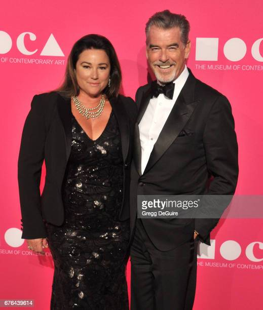 Pierce Brosnan and Keely Shaye Smith arrive at the MOCA Gala 2017 at The Geffen Contemporary at MOCA on April 29 2017 in Los Angeles California
