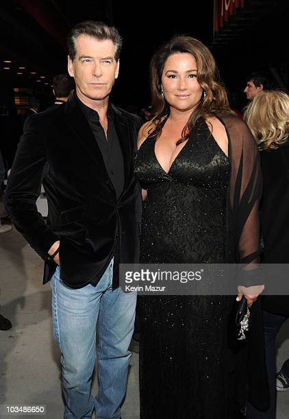 Pierce Brosnan and Keely Shaye Smith arrives at the 25th Film Independent Spirit Awards held at Nokia Theatre LA Live on March 5 2010 in Los Angeles...