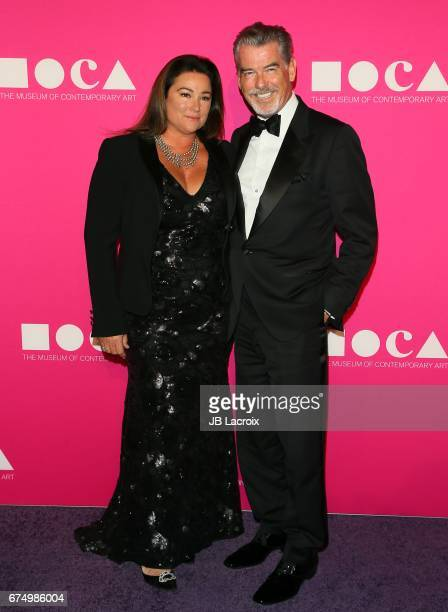 Pierce Brosnan and Keely Shaye Smith attend the MOCA Gala 2017 on April 29 2017 in Los Angeles California