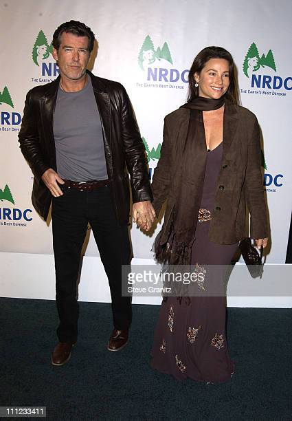Pierce Brosnan and Keely Shaye Smith during NRDC Presents The Rolling Stones in a Free Concert to Fight Global Warming - Arrivals at Staples Center...