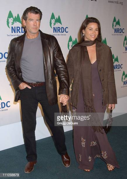Pierce Brosnan and Keely Shaye Smith during NRDC Presents The Rolling Stones in a Free Concert to Fight Global Warming Arrivals at Staples Center in...