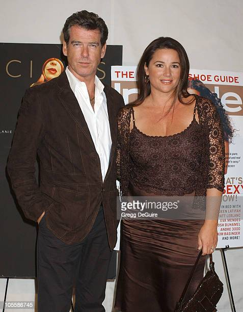 Pierce Brosnan and Keely ShayeSmith during Instyle Magazine Celebrates The Book Precious By Melanie Dunea and Nigel Parry at Chateau Marmont Hotel in...
