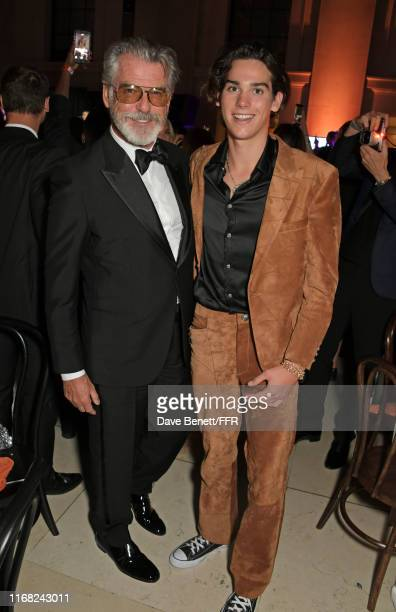 Pierce Brosnan and Paris Brosnan attend the Fashion For Relief London 2019 after party at The British Museum on September 14 2019 in London England