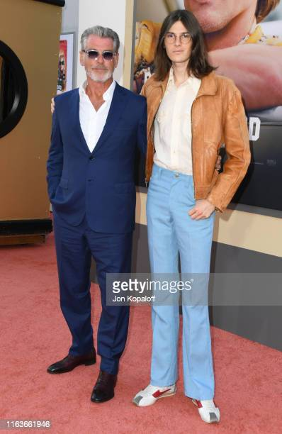 Pierce Brosnan and son Dylan Brosnan attends Sony Pictures' Once Upon A TimeIn Hollywood Los Angeles Premiere on July 22 2019 in Hollywood California