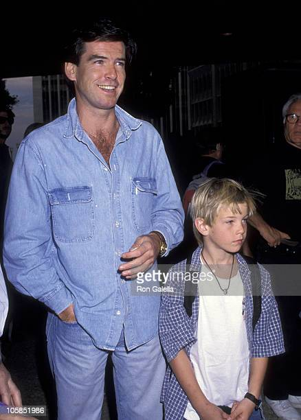 Pierce Brosnan and Son Sean Brosnan during Home Alone 2 Lost in New York Premiere Hosted by United Artist Theatres at Century City in Century City CA...