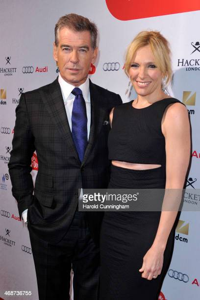 Pierce Brosnan and Toni Collette attend the Zurich premiere of 'A Long way down' at Kino Corso on February 11 2014 in Zurich Switzerland