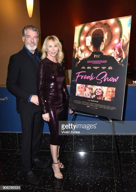 Pierce Brosnan and Trudie Styler attend the 'Freak Show' special screening on January 17 2018 in Los Angeles California
