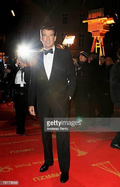Pierce Brosnan arrives at the 42nd Goldene Kamera Award at the UllsteinArena on February 1 2007 in Berlin Germany