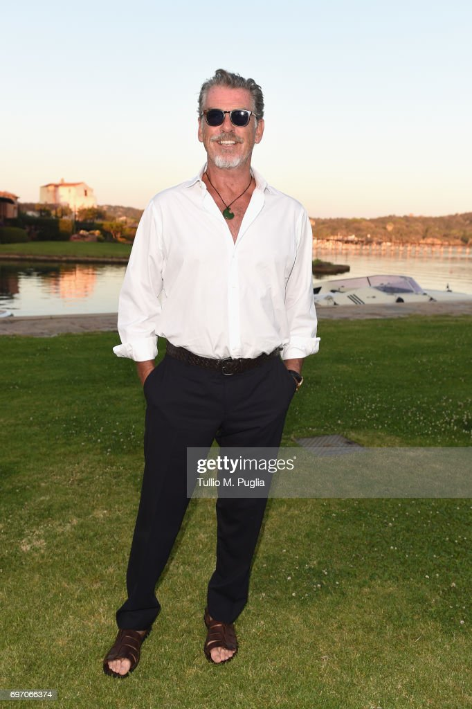 Pierce Brosnan arrives at The Costa Smeralda Invitational Gala Dinner at Cala di Volpe Hotel - Costa Smeralda on June 17, 2017 in Olbia, Italy.