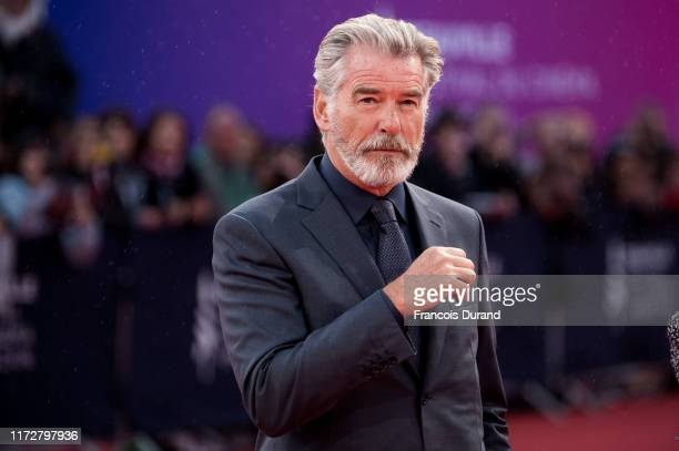 Pierce Brosnan arrives at the Opening Ceremony during the 45th Deauville American Film Festival on September 06 2019 in Deauville France