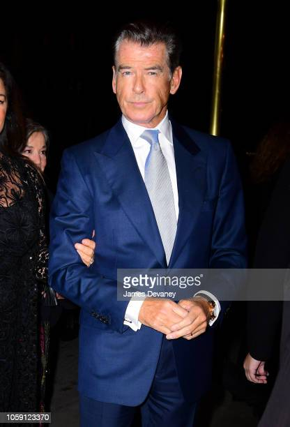 Pierce Brosnan arrives to the Russian Tea Room on November 7 2018 in New York City