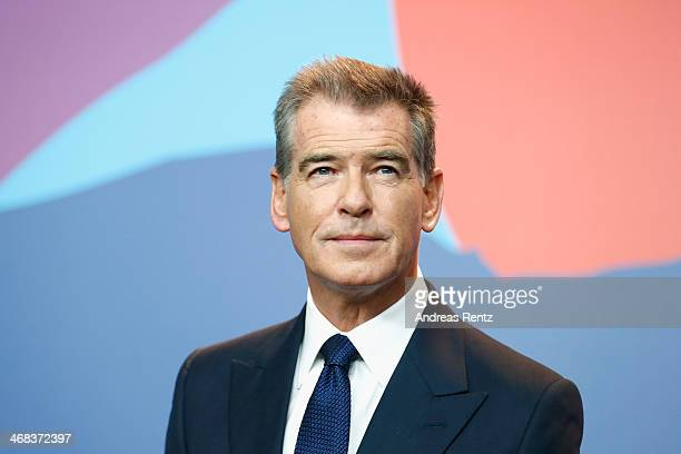 Pierce Brosnan attends the 'A long way down' press conference during 64th Berlinale International Film Festival at Grand Hyatt Hotel on February 10...