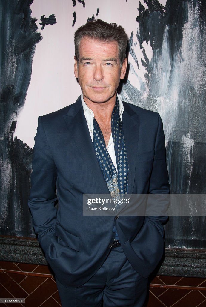 Pierce Brosnan attends the after party for the Cinema Society & Disaronno screening of Sony Pictures Classics' 'Love Is All You Need' at Jimmy At The James Hotel on April 24, 2013 in New York City.