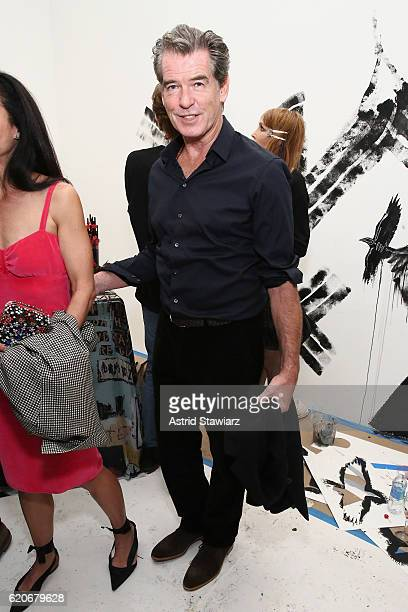 Pierce Brosnan attends the alice olivia x Basquiat CFDA Capsule Collection launch party on November 2 2016 in New York City