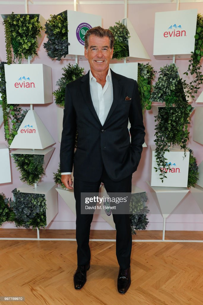 Pierce Brosnan attends the Evian Live Young Suite at The Championship at Wimbledon on July 13, 2018 in London, England.