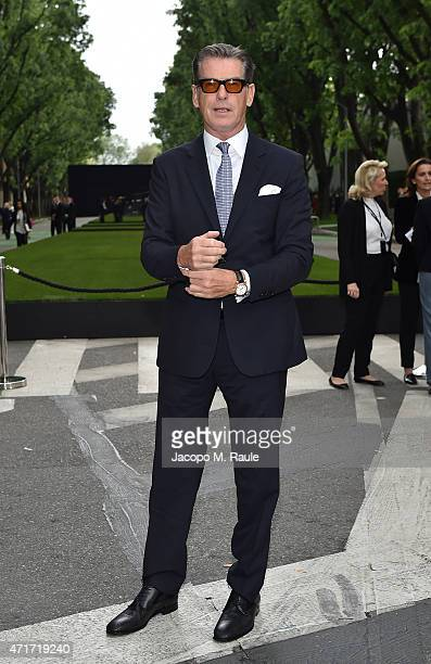 Pierce Brosnan attends the Giorgio Armani 40th Anniversary Silos Opening And Cocktail Reception on April 30 2015 in Milan Italy