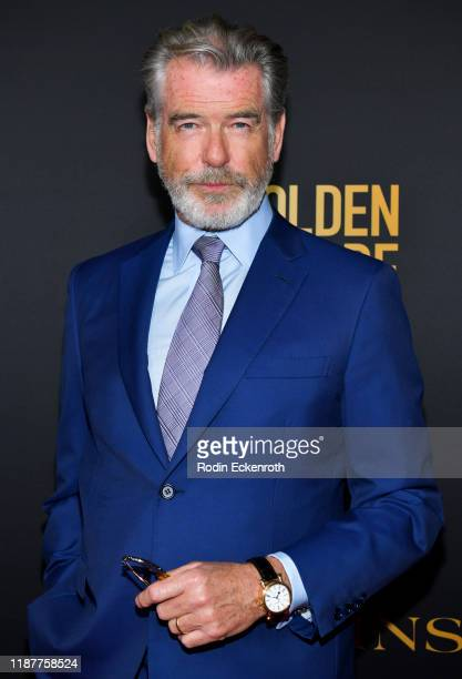 Pierce Brosnan attends the HFPA and THR Golden Globe Ambassador Party at Catch LA on November 14 2019 in West Hollywood California