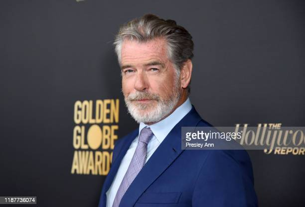 Pierce Brosnan attends the Hollywood Foreign Press Association and The Hollywood Reporter Celebration of the 2020 Golden Globe Awards Season and...