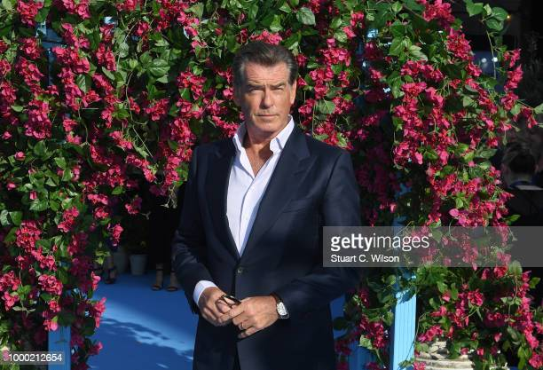 Pierce Brosnan attends the Mamma Mia Here We Go Again world premiere at the Eventim Apollo Hammersmith on July 16 2018 in London England
