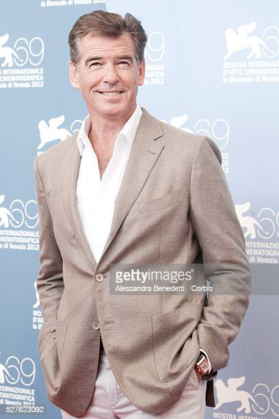 Pierce Brosnan attends the photocall of movie Love is all you need presented in competition at the 69th Venice Film Festival