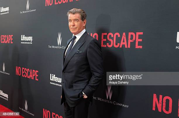 Pierce Brosnan attends the premiere of the Weinstein Company's 'No Escape' in Partnership With Lifeway Foods at Regal Cinemas LA Live on August 17...