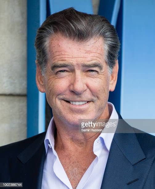 Pierce Brosnan attends the UK Premiere of Mamma Mia Here We Go Again at Eventim Apollo on July 16 2018 in London England