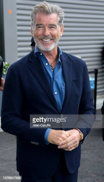 Pierce Brosnan attends the women's final on day 13 of the 2018 tennis US Open on Arthur Ashe stadium at the USTA Billie Jean King National Tennis...