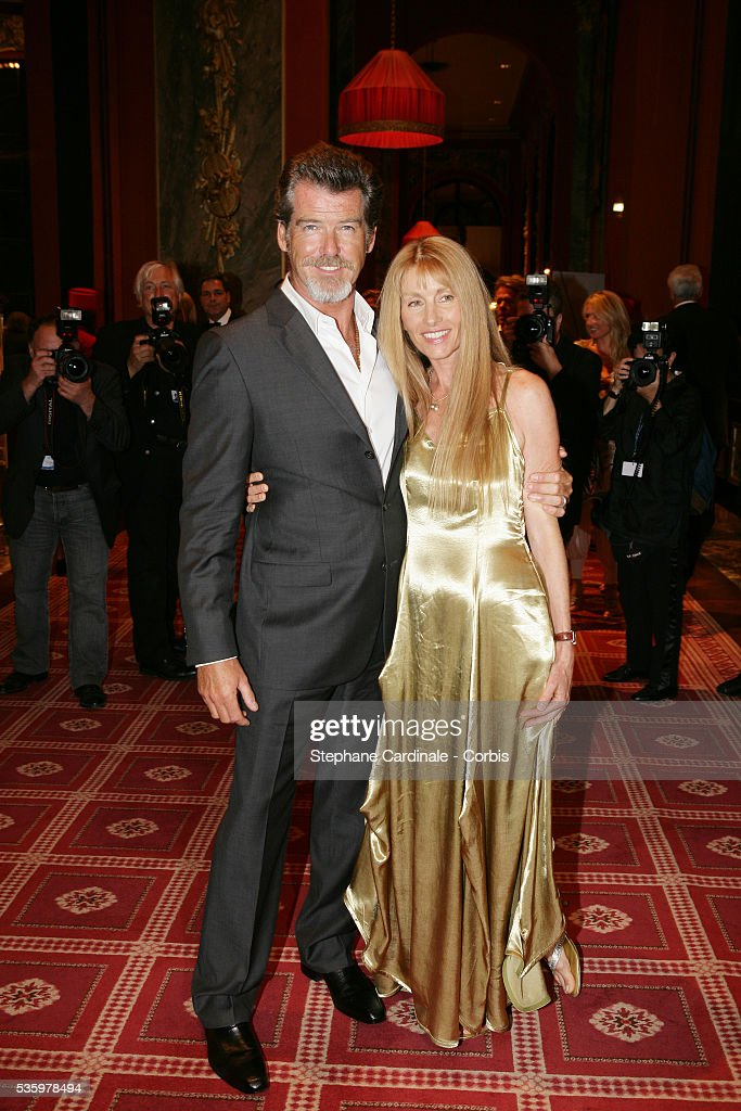 Pierce Brosnan, Beau Saint Clair at the official opening dinner of the 31st American Deauville Film Festival.
