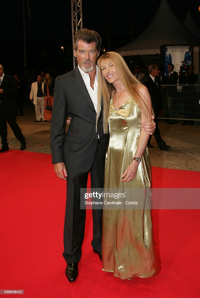 Pierce Brosnan, Beau Sinclair at the opening ceremony of the 31st American Deauville Film Festival.