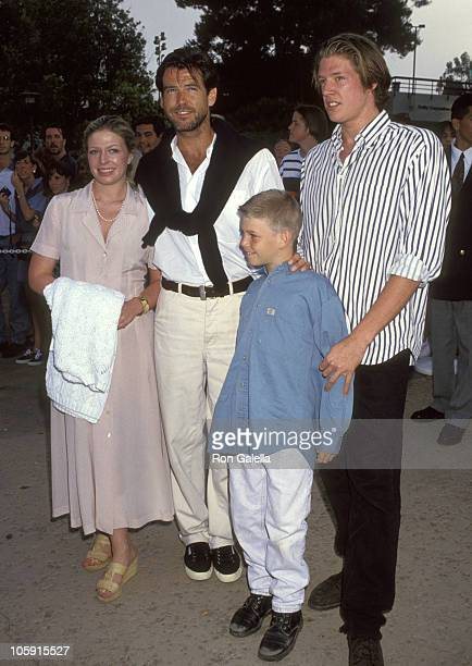Pierce Brosnan Daughter Charlotte Harris Son Christopher Harris and Son Sean Brosnan