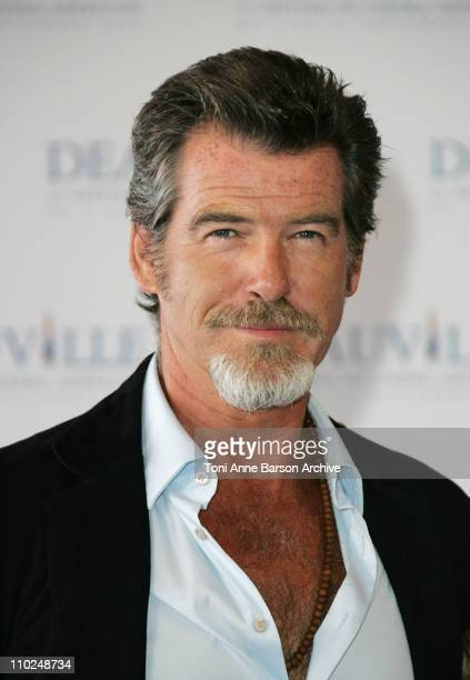 Pierce Brosnan during 31st American Film Festival of Deauville The Matador Photocall at CID in Deauville France