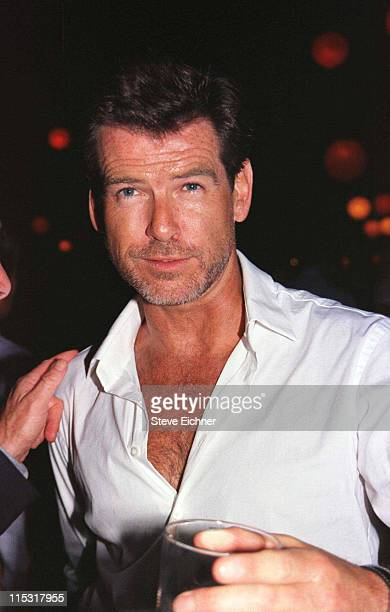 Pierce Brosnan during 'Talk' Magazine Launch Party August 2 1999 at Liberty Island in New York City New York United States