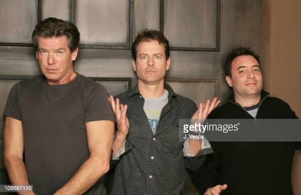 "Pierce Brosnan, Greg Kinnear and Richard Sheppard during 2005 Sundance Film Festival - ""The Matador"" Portraits at HP Portait Studio in Park City,..."