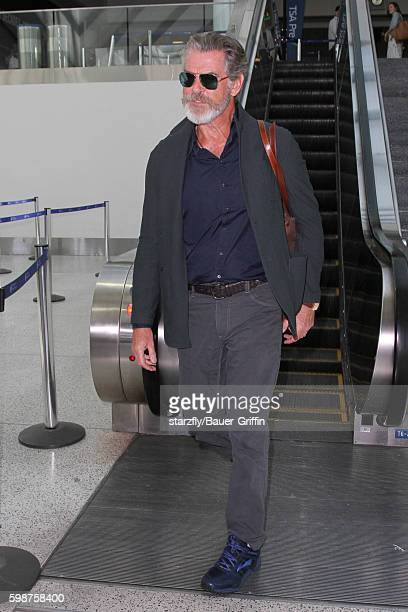 Pierce Brosnan is seen at LAX on September 02 2016 in Los Angeles California