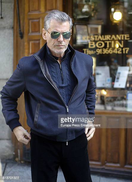 Pierce Brosnan is seen leaving 'Casa Botin' According to the Guinness Book of Records this is the oldest restaurant in the world dating from 1725 on...