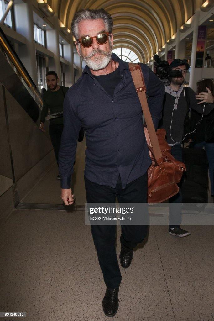 Pierce Brosnan is seen on January 12, 2018 in Los Angeles, California.