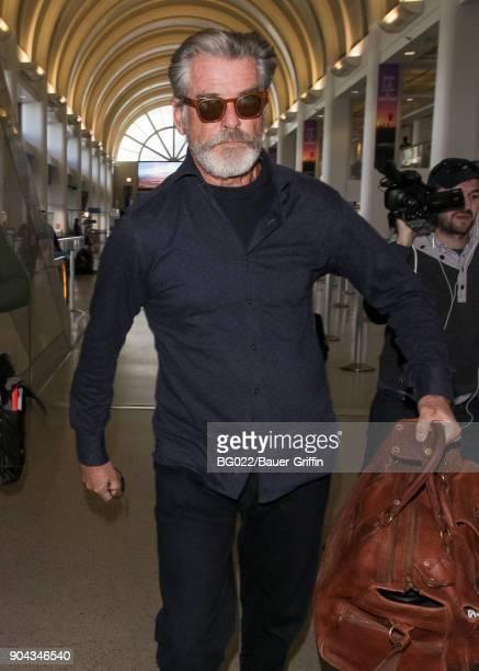 Pierce Brosnan is seen on January 12 2018 in Los Angeles California