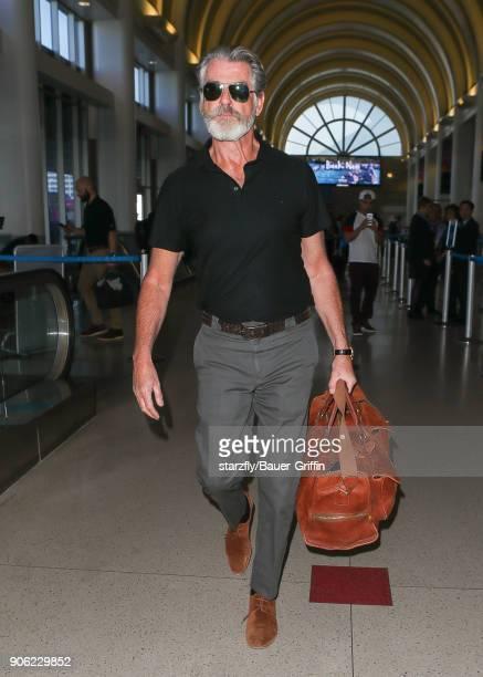 Pierce Brosnan is seen on January 17 2018 in Los Angeles California