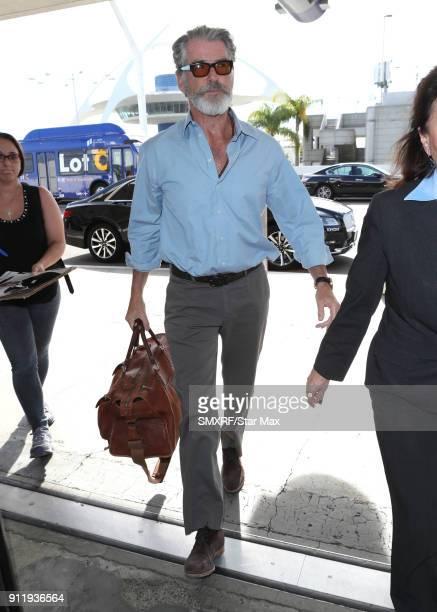 Pierce Brosnan is seen on January 29 2018 in Los Angeles CA