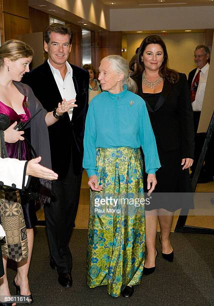 Pierce Brosnan Jane Goodall and Keely Shaye Smith arrive at the 2nd Annual Jane Goodall Institute Global Leadership Awards at the Ronald Reagan...