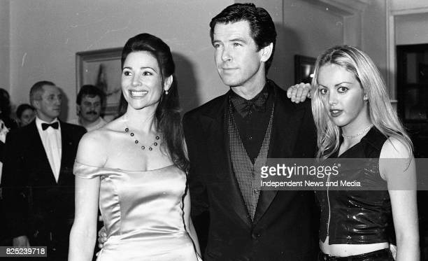 Pierce Brosnan Keely Shaye Smith and exBond girl Alison Doody at the Reception in the Gresham Hotel for his new James Bond movie Golden Eye