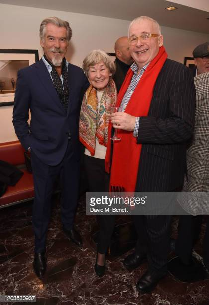 Pierce Brosnan May Carmichael and Christopher Biggins attend the press night performance of Madam Butterfly part of the English National Opera's...