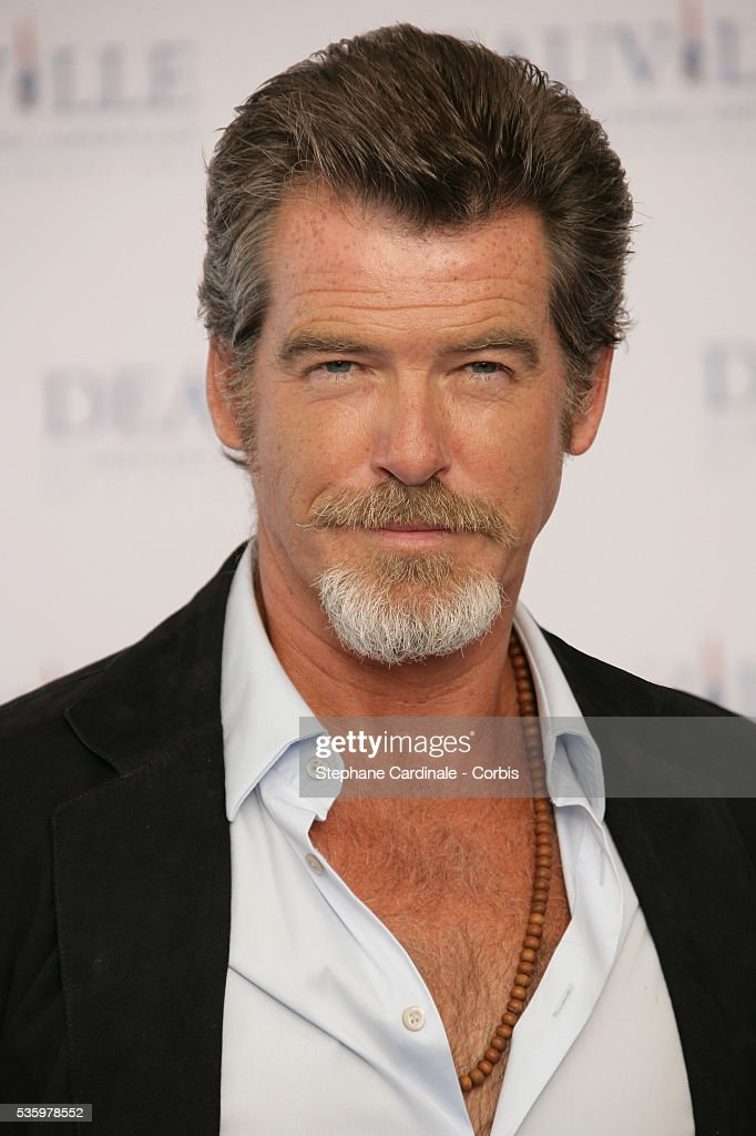 Pierce Brosnan poses for 'The Matador' photocall during the 31st American Deauville Film Festival.