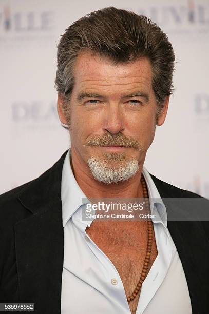 Pierce Brosnan poses for The Matador photocall during the 31st American Deauville Film Festival