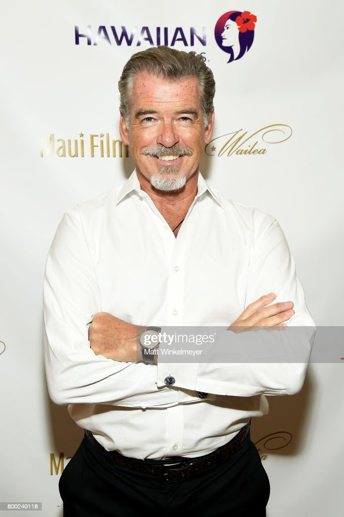 Pierce Brosnan. recipient of the Pathfinder Award, attends day three of the 2017 Maui Film Festival At Wailea on June 23, 2017 in Wailea, Hawaii.
