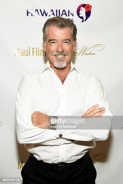 Pierce Brosnan recipient of the Pathfinder Award attends day three of the 2017 Maui Film Festival At Wailea on June 23 2017 in Wailea Hawaii