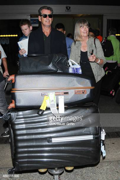 Pierce Brosnan seen at LAX on September 15 2014 in Los Angeles California