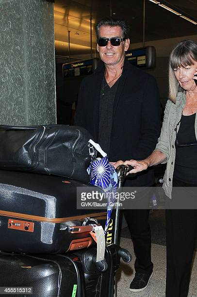 Pierce Brosnan seen at LAX on September 15 2014 in Los Angeles California