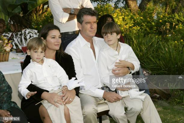 Pierce Brosnan wife Keely and children Paris and Dylan